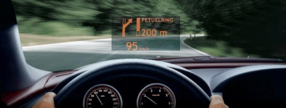 Head up display (vir BMW)